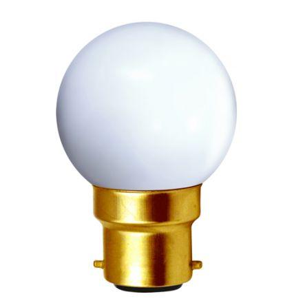 Sphérique LED 1W B22 30lm Blanc