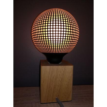 Ampoule LED IMPRIMÉE POINTILLÉS E27 G125 4W 100lm 2700k Dimmable
