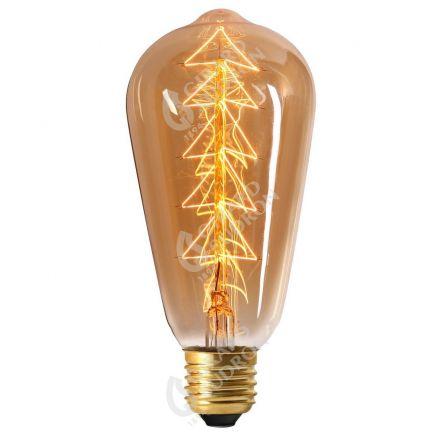 Edison Filament Métallique Sapin 24W E27 2000K Ambré