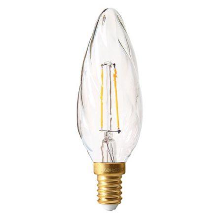 Flamme Torsadée F6 Filament LED 3W E14 2700K Claire