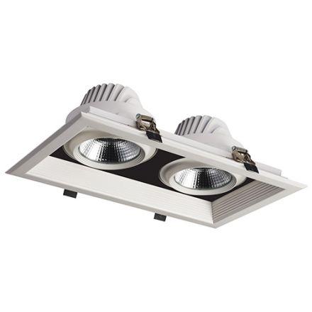 Jay - Spots encastrés multiples LED 351x200x107 enc.325x175 2x30W 4000K 5400lm 36° blanc