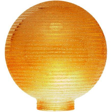 Globe D.100 Strie Ambre P De Vis 31,5Mm