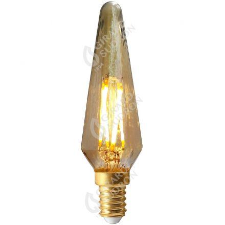 Flamme Bohème Filament LED 4W E14 2500K 280Lm Dimmable Ambrée