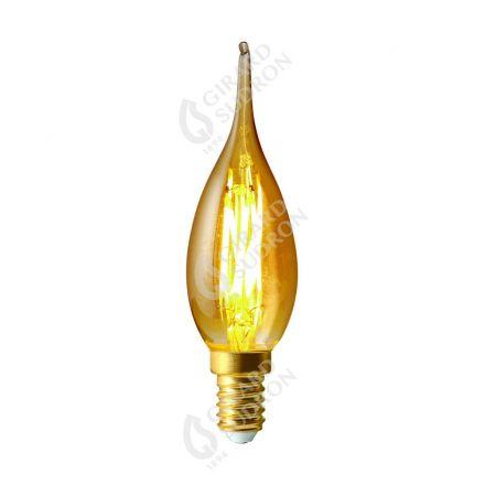 Flamme GRAND SIECLE GS4 Filament LED 5W E14 2500K 500lm Ambrée