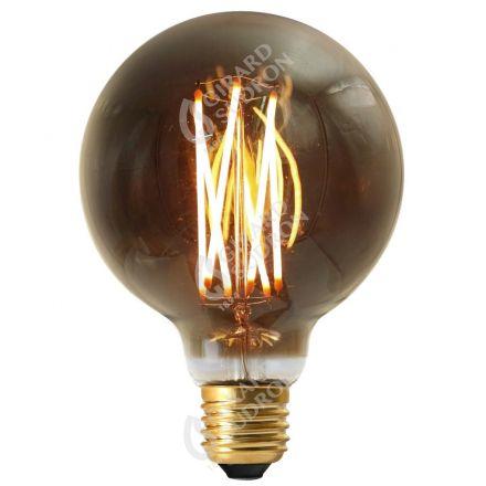 Globe G95 Filament LED DROIT 4W E27 2100k 200lm Dimmable Smokey