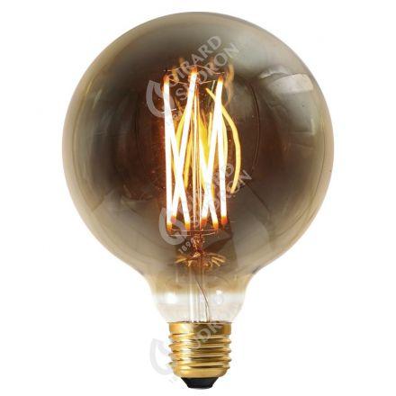 Globe G125 Filament LED DROIT 6W E27 2100k 300lm Dimmable Smokey RA>90