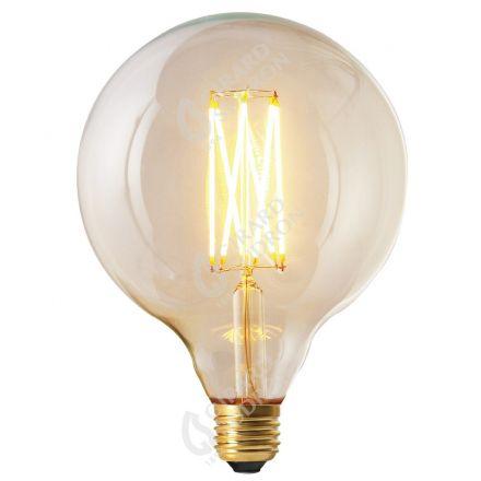 Globe G125 Filament LED DROIT 6W E27 2300K 450lm Dimmable Clair RA>90