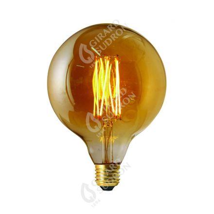 Globe G125 Filament LED DROIT 6W E27 2100k 390lm Dimmable Ambré RA>90