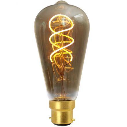 Edison Filament LED TWISTED 4W B22 2000K 200lm Dimmable Smokey