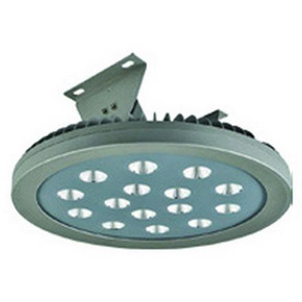 Ananke - Armature industrielle LED IP 66 Ø450x195 120W 4000K 12378lm 60° argent