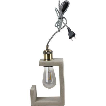 Lampe à poser BETON 40W Max. E27 Câble textile 1.80m