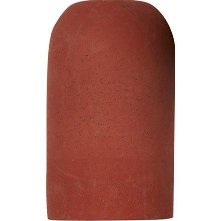 Douille Béton E27 H.82mm Rouge Brique