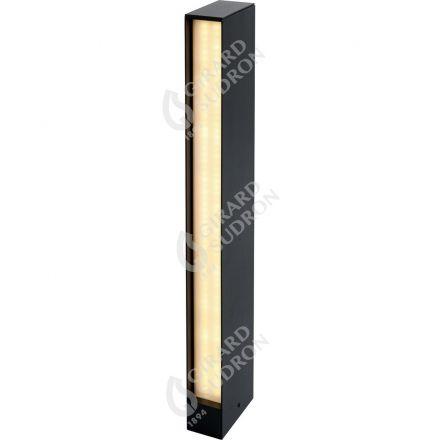 Rise - Borne LED Ø50x100x600 24W 4000K 1320lm IP65 135° noir