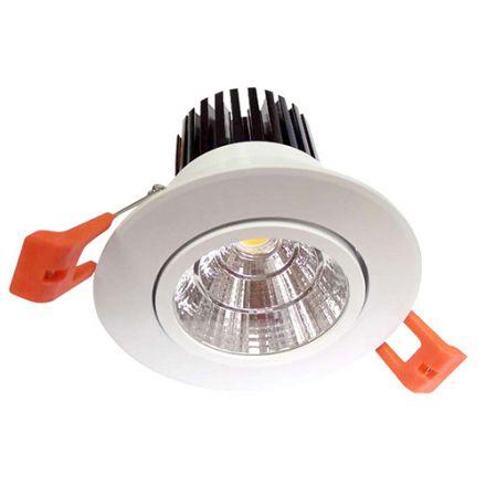 Cavell - Spot encastré inclinable LED Ø85 x 80 enc.Ø75 10W 4000K 800lm 24° blanc