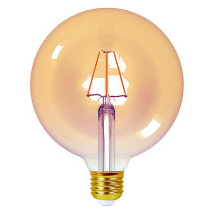 ECOWATTS - Globe G125 Filament LED 4W E27 2200k 410lm Ambré