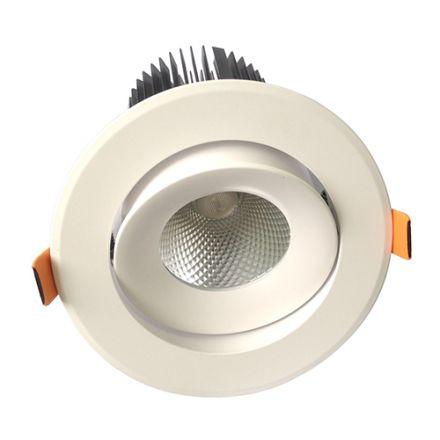 Cavell - Spot encastré inclinable LED Ø142x118 enc.Ø110 25W 3000K 1900lm 36° blanc