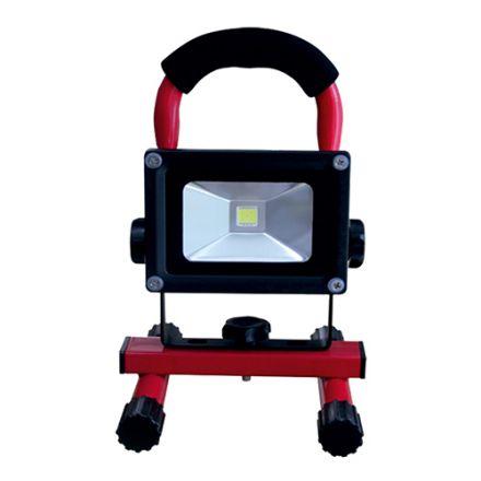Lassen - Projecteur portatif rechargeable LED IP65 10W 2700K 600lm 120° Rouge