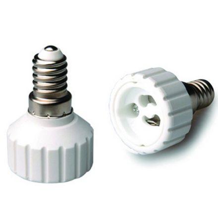 Adaptateur E14-Gu10 Ceramique Blanc