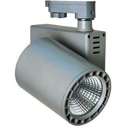 Jacinto - Projecteur sur rail LED Ø99 x 148 35W 4000K 3150lm 36° gris