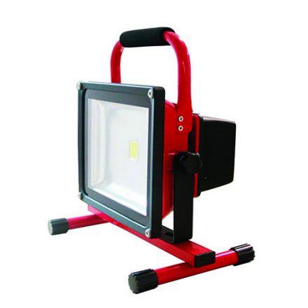 Lassen - Rechargeable portable LED Flood light IP 65 305 x225x184 30W 2700K 1200lm 120° rouge