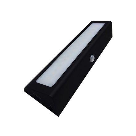 Menkar - Eclairage de meuble LED 210x55x30 1W 3000K 100lm 90° noir