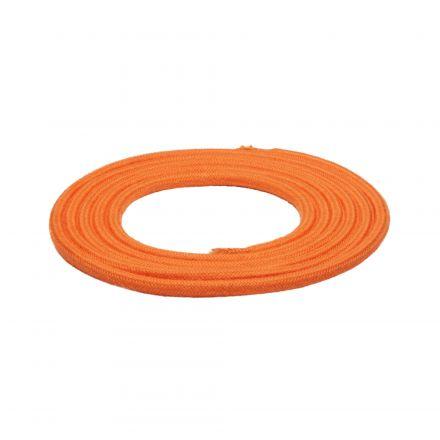 Câble Textile Rond 2x0,75mm2 Double Isolation Orange 2 Mètres