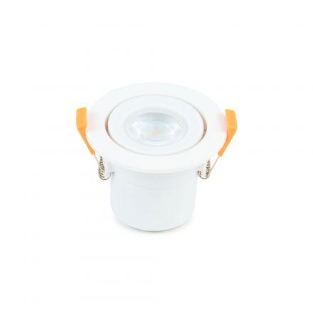 Spot LED Orientable plast D87mm H65mm IP65 6W 3000K 550lm Dimmable Classe II