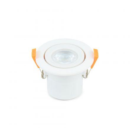 Spot LED Orientable plast D87mm H65mm IP65 6W 4000K 600lm Dimmable Classe II