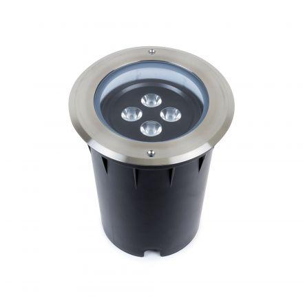 Kastra - Encastré de sol LED IP67 Ø193 x 248 enc.Ø190mm 25W 4000K 1750lm 15° argent