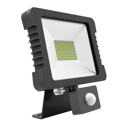 Yonna - Projecteur LED IP65 250x268x51 50W 3000K 3600lm 110° Noir PIR