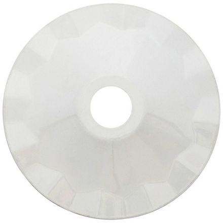 Abat-jour métallique Blanc Ø187mm avec anneau de fixation en caoutchouc