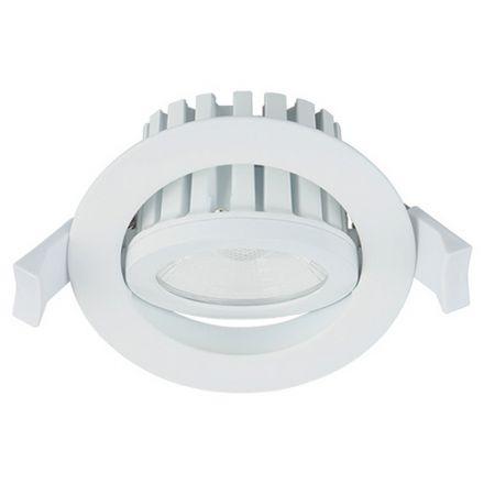 Cavell - Spot encastré inclinable LED IP 65 Ø86 x 75 enc.Ø75 10W 4000K 900lm 45° blanc