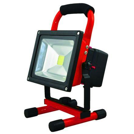 Lassen - Projecteur LED portatif rechargeable avec USB IP 65 256x182x170 20W 4000K 1000lm 120° rouge