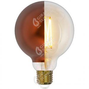 Globe D95 Filament LED Latéral Bronze 8W E27 2700K 950Lm Dim.