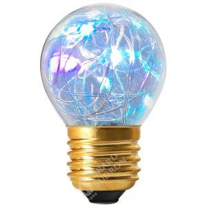 Sphérique HAPPY IN G45 LED 1W E27 RGB Claire