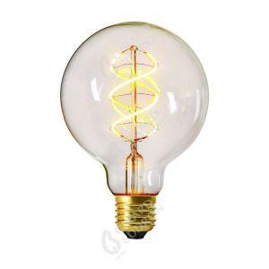 "Ampoule Globe ""Twisted"" LED 5W E27 2200k 300lm Claire"