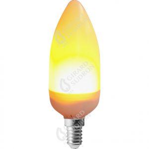 Flamme C37 LED Effet Flamme 2,8W à 4,5W E14 1300K - 3 Modes