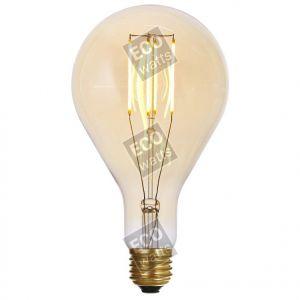 Ecowatts - Big bulb LED filament 240mm 4W E27 2000K 300Lm Dimmable Ambré