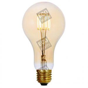 Ecowatts - Big bulb LED filament 180mm 4W E27 2000K 300Lm Dimmable Ambré
