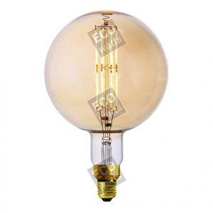 Ecowatts - Globe G200 Filament LED 8W E27 2000K 700Lm Dimmable Ambré