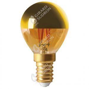 Sphérique G45 Filament LED Calotte Dorée 4W E14 2700K 300Lm No Dim.