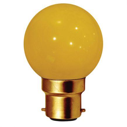 Sphérique LED 1W B22 30lm Jaune