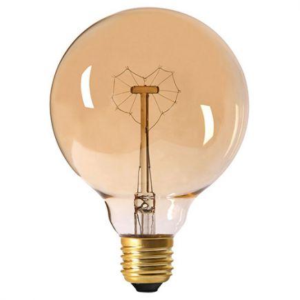 Globe Filament Métallique Cœur 24W E27 2000K Ambre