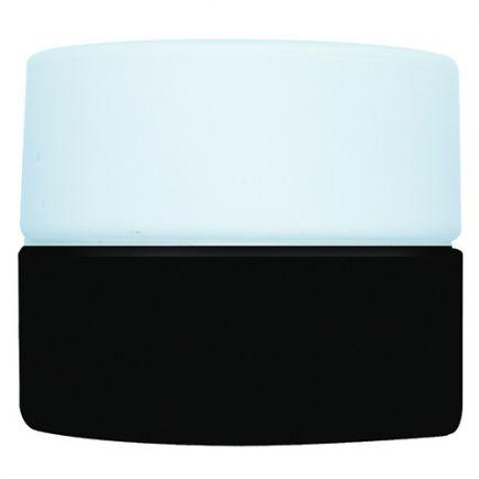 PORCELAINE VINTAGE Applique G9 Hublot avec verrerie opaline Noire