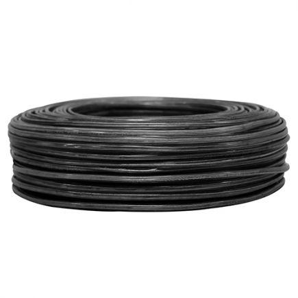 CABLE OVALE DBLE ISOL.2X0,5 NOIR (CR 100m)