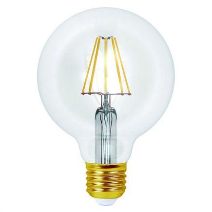 ECOWATTS - Globe G95 Filament LED 8W E27 4000k 1055lm Clair