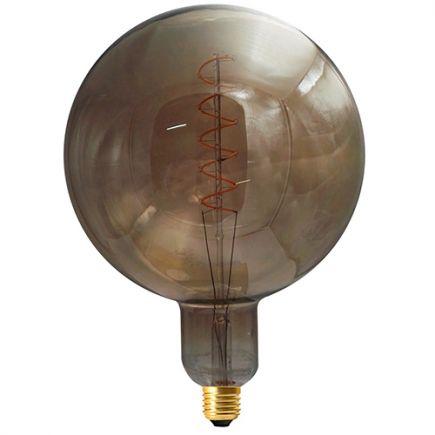 Globe G200 Filament LED TWISTED 6W E27 2000K 240Lm Dim. Smoky