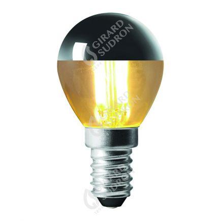 """Sphérique """"Calotte Argentée"""" LED 4W E14 2700k 350lm G45"""
