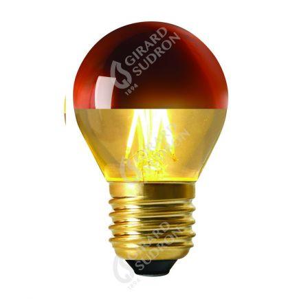 """Sphérique """"Calotte Bronze"""" LED 4W G45 E27 2700k 350lm Dim"""