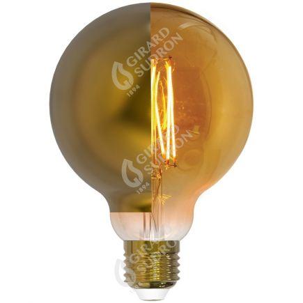 Globe D95 Filament LED Latéral Doré 8W E27 2700K 950Lm Dim.